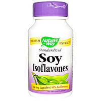 Nature's Way, Изофлавоны сои, стандартизированные, 60 растительных капсул, NWY-64100