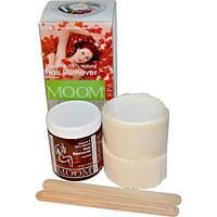 Moom, Органическое средство для удаления волос, с розой, спа, 6 унций (170 гр), MOM-99005