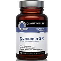 Quality of Life Labs, Куркумин-SR, здоровое старение, 125 мг, 30 вегетарианских капсул, QLL-00328