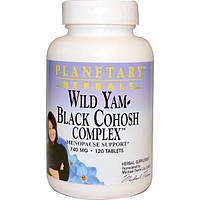 Planetary Herbals, Дикий ямс – комплекс с клопогоном кистевидным, 740 мг, 120 таблеток, PTF-10117