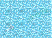 Фетр с принтом СНЕЖИНКИ НА ГОЛУБОМ, 22x30 см, корейский мягкий 1.2 мм