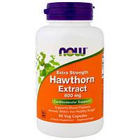Now Foods, Экстракт Боярышника для Роста Силы, 600 мг, 90 Растительных капсул, NOW-04699