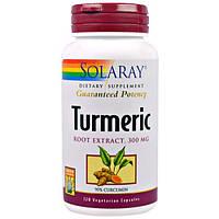 Solaray, Экстракт из корня куркумы, 300 мг, 120 вегетарианских капсул, SOR-12928