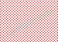 Фетр с принтом СЕРДЕЧКИ КРАСНЫЕ, 22x30 см, корейский мягкий 1.2 мм