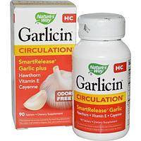 Nature's Way, Garlicin HC, для кровообращения, без запаха, 90 таблеток, NWY-06794