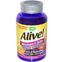 Nature's Way, Alive! Жевательные витамины для женщин 50+, 75 жевательных мармеладок, NWY-15899