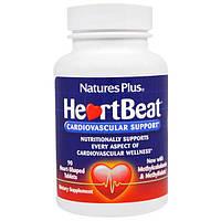Nature's Plus, Сердцебиение, Поддержка Сердечно-сосудистой системы , 90 Таблеток в Форме Сердца, NAP-47421