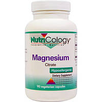 Nutricology, Цитрат магния, 90 растительных капсул, ARG-50240