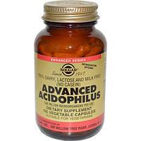 Solgar, Улучшенный Ацидофилин, 100 Капсул, SOL-00018