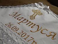 """Дизайн """"Мартуся"""". Вышивка золотом на крыжме с уголком."""