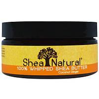 Shea Natural, 100% взбитое масло ши, кокос-имбирь, 6,3 унций (178 г), SHN-52006