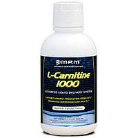 MRM, L-карнитин 1000, натуральный ванильный вкус, 17 жидких унций (503 мл), MRM-72211
