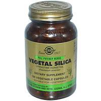 Solgar, Растительный диоксид кремния, 100 растительных капсул, SOL-04068