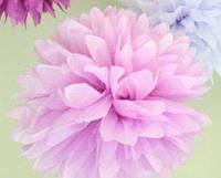 Купить бумажный помпон для оформления, 35 см. розово-сиреневый