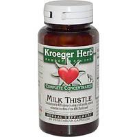 Kroeger Herb Co, Полная концентрация, Расторопша пятнистая, 90 растительных капсул, KHC-11507