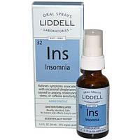 Liddell, Ins, средство от бессонницы, оральный спрей, 1 жидкая унция (30 мл), LID-08696