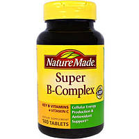 "Nature Made, ""Супер-B-комплекс"", комплекс витаминов группы B с витамином C, 140 таблеток, NDM-02727"