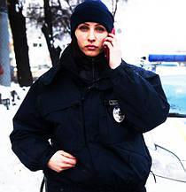 Куртки полиции, бушлаты охраны зимние