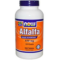 Now Foods, Alfalfa, 650 mg, 500 Tablets, NOW-02622
