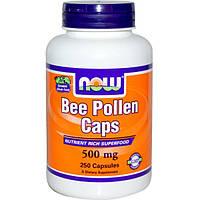 Now Foods, Капсулы с пчелиной пыльцой, 500 мг, 250 капсул, NOW-02522