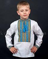 Сорочка для хлопчика (з синє-жовтим орнаментом)