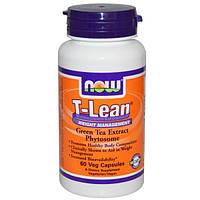 Now Foods, T-Lean, Препарат для контроля за весом, 60вегетарианских капсул (Discontinued Item), NOW-01920
