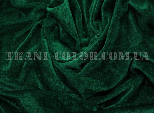Велюр стрейчевый темно-зеленый , фото 2