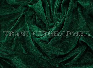 Велюр стрейчевий темно-зелений