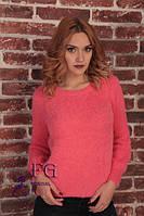 Невероятно модный женский свитер из ворсистой мягкой нити
