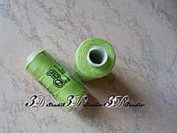 Нитки швейные №077 салатовые 100% полиэстер 400 ярдов