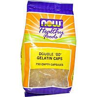 """Now Foods, Продукты здорового питания, двойные """"00"""" желатиновые капсулы, 750 пустых капсул, NOW-05131"""