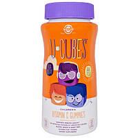 Solgar, U-Cubes, жевательные конфеты с витамином C для детей, 90 шт., SOL-59598