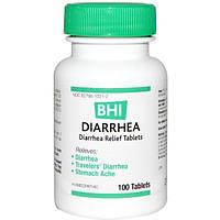 MediNatura, BHI, средство от диареи, 100 таблеток, HEE-10018