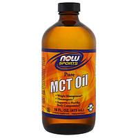 Now Foods, Спортивное питание, чистое триглицеридное масло с цепочками средней длины, 16 жидких унций (473 мл), NOW-02211