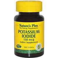 Nature's Plus, Калия йодид, 150 мкг, 100 таблеток, NAP-03371