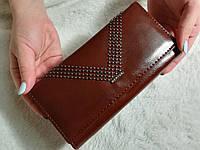 Женский кошелек Mertok коричневый + коробка