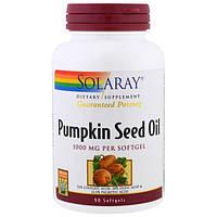 Solaray, Масло тыквенных семечек, 1000 мг, 90 капсул, SOR-10727