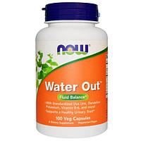 Now Foods, Water Out, баланс жидкости, 100 вегетарианских капсул, NOW-01908