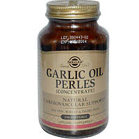 Solgar, Чесночное масло Perles, (концентрат), 250 мягких капсул, SOL-01221