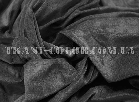 Велюр стрейчевый темно-серый, фото 2