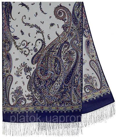 Тысяча и одна ночь 1558-64, павлопосадский шарф-палантин шерстяной с шелковой бахромой