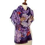 Палантин шерстяной 10243-15, павлопосадский шарф-палантин шерстяной (разреженная шерсть) с осыпкой, фото 2