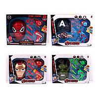 Набор супергероя с маской и пистолетом Мстители 803: Человек паук/Капитан америка/Железный человек/Халк