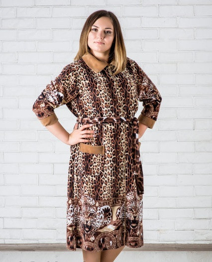 fad23d148c45 Велюровый халат леопардовый, цена 593,63 грн., купить в Харькове ...
