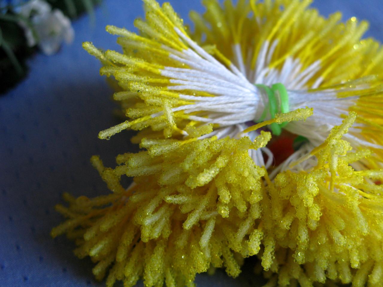 Тычинки сахарные палочки. Цвет желтый. 100 ниток - 200 головок
