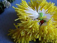 Тычинки сахарные палочки. Цвет желтый. 100 ниток - 200 головок, фото 1
