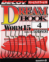 Крючок Decoy Dream Hook Worm 15 1, 9шт
