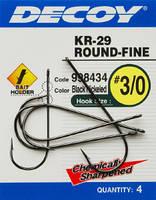 Крючок Decoy KR-29 WORM ROUND-FINE 1, 5 шт.