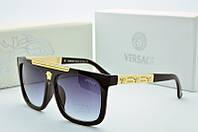 Солнцезащитные квадратные женские очки Versace черные