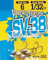 Крючок Decoy Violence Jighead SV-38 4 2.6г, 5шт